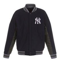 MLB New York Yankees JH Design Wool Reversible Jacket  Navy  & Charcoal - $179.99