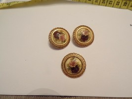 Vintage Rose Clip on Earrings With Matching Brooch/Pendant - $10.00