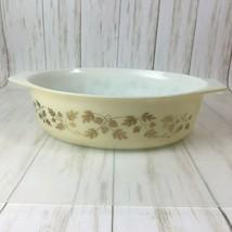 Vintage  Pyrex Golden Acorn Oval Casserole Dish 2 1/5 qt  045 - $15.85