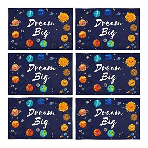 InterestPrint Motivational Quotes Dream Big with Lovely Planets Moon Spaceship a