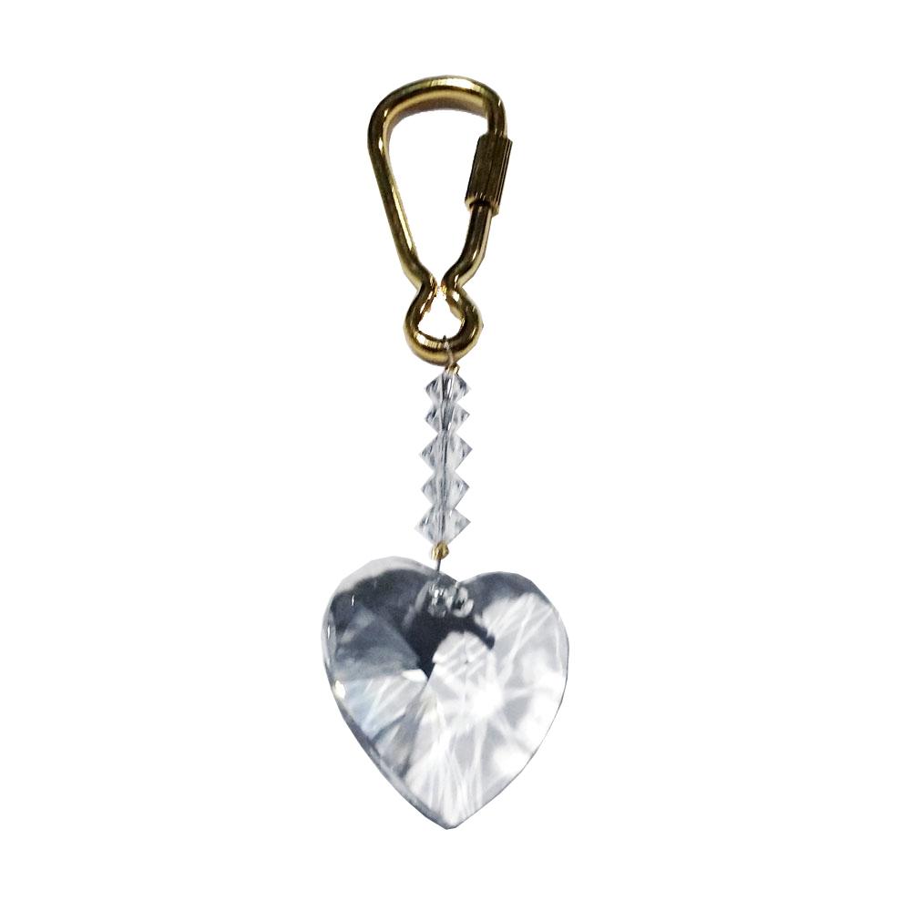 Crystal heart keyring krp120 01