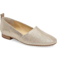 Paul Green Metallic Lenny Perforated Loafer UK 4.5 US 7 Flats  - $39.59