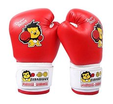 PANDA SUPERSTORE Red Lion Kids MMA Boxing Mitts Training Gloves for Muay Thai Ki