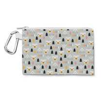 Winter Polar Bears Forest Canvas Zip Pouch - $15.99+