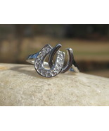 Haunted LADY LUCK winning horse shoe ring Gambling Lotto Slots Races cards - $77.77
