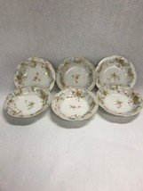 6 pc.Haviland Limoges France The Princess Dish Scalloped bowl  5 inch  VINTAGE - $33.65