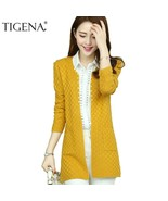 TIGENA Long Cardigan Female 2019 Spring Autumn Knitted Women Long Sleeve... - €19,84 EUR
