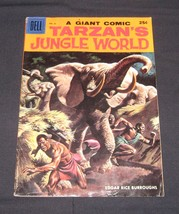 Dell Giant Tarzan's Jungle World #25 1959, Marsh painted cover silver age comic - $16.00