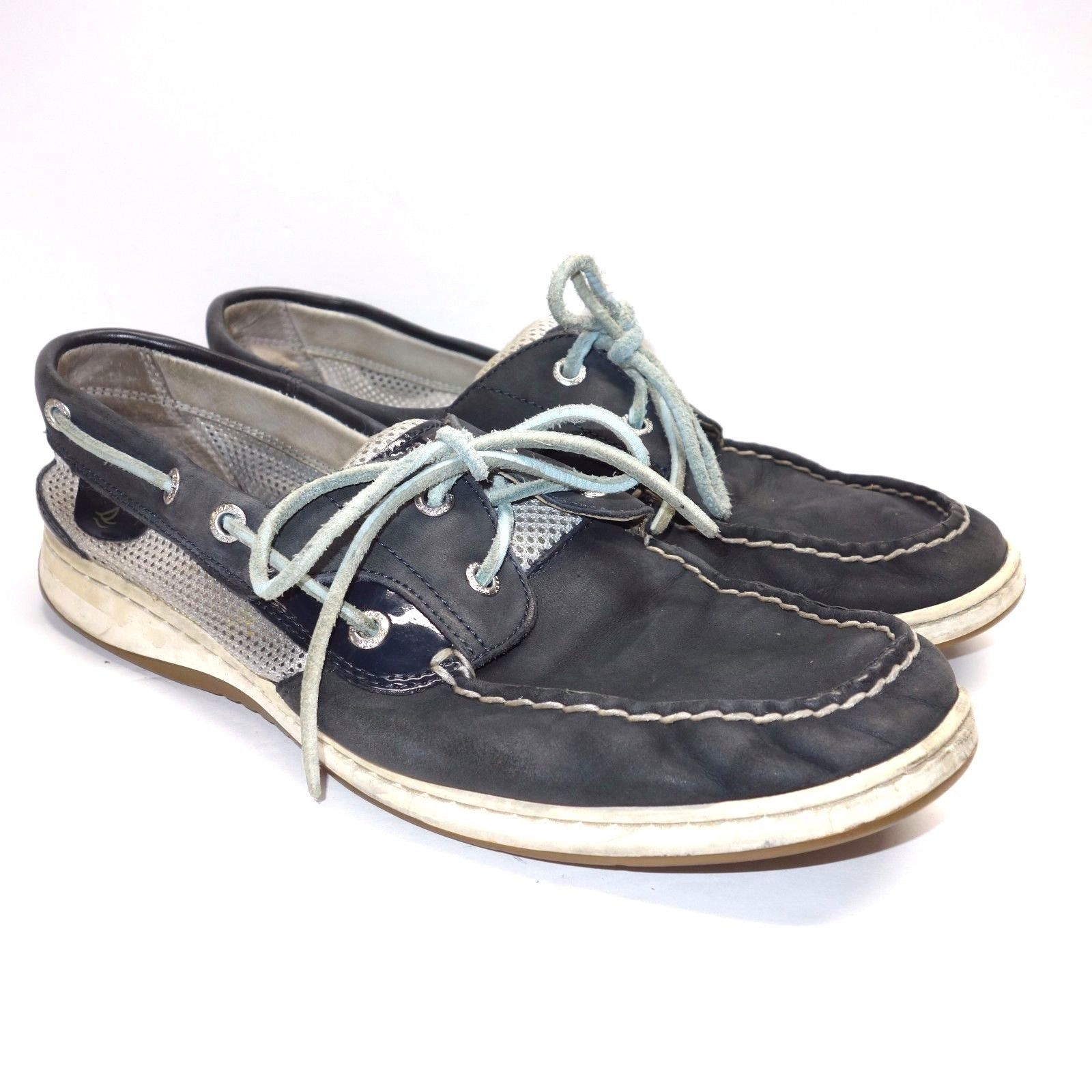 Intrepid Boat Shoe Navy White 6 M SPERRY Womens