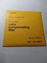 Kodak CC25C 75MMX75MM Filter - $12.20