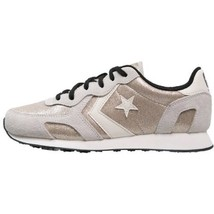 Converse Women's Size 10.5 Auckland Racer OX Gold Glam Vaporous Grey Rare Limite - $59.35