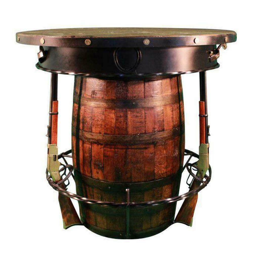 Primary image for Western Outlaw Pub Table Barrel 3 Handcrafted Rifles - Saloon - Custom USA