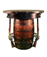 Western Outlaw Pub Table Barrel 3 Handcrafted Rifles - Saloon - Custom USA - $3,385.99