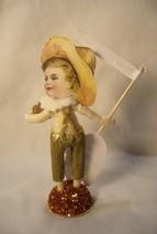 Vintage Inspired Spun Cotton Thanksgiving Boy  & Turkey image 2
