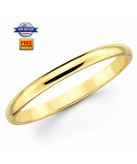 Thin Yellow Gold Plated Stainless steel 2mm Wedding Band Ring Size 5-13 - $4.88