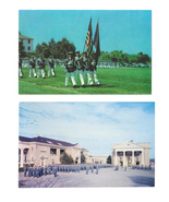 Virginia Staunton Military Academy Cadets on Plaza Color Guard 2 Vntg Po... - $7.99