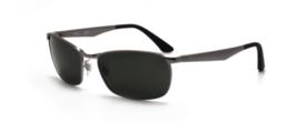 Ray Ban RB3534 004 59 Gunmetal G15 Green New Sunglasses Authentic - $190.93
