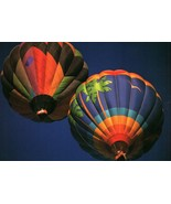 CONTINENTAL SIZE POSTCARD HOT AIR BALLOONS - $2.98