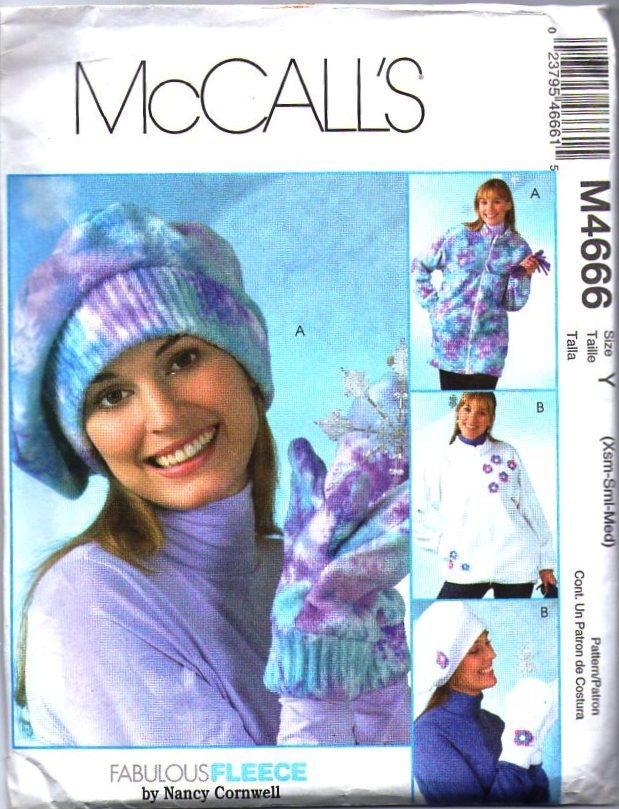 McCall's Sewing Pattern M4666 - Misses Unlined Jackets, Hat and Mittens