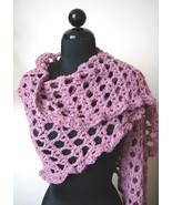Handmade Crocheted Rose Colored Shawl - $29.99
