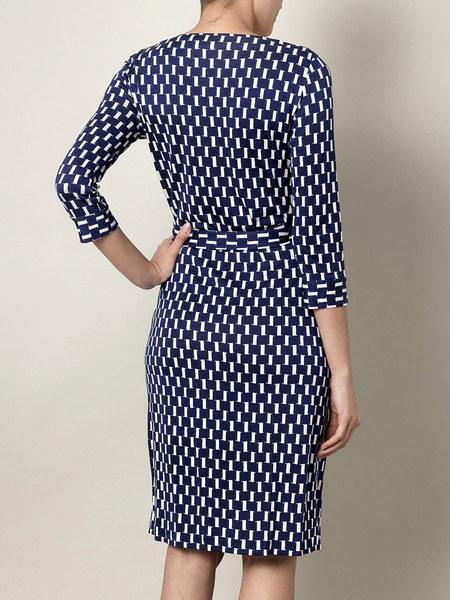 Diane von Furstenberg NEW JULIAN TWO Wrap Dress in SCREENS BLUE size 0