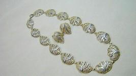 Ornate German Sterling Filigree Necklace & Earrings - $49.99