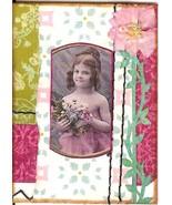 ACEO ATC Art Collage Women Ladies Children Girl Daughter Flowers Innocent - $5.00
