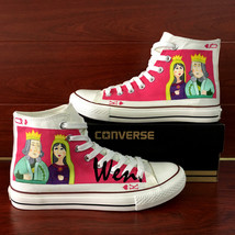 Design Hand Painted Shoes Converse All Star Poker King Queen Canvas Snea... - $155.00