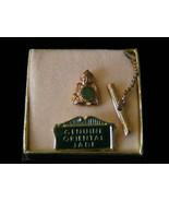 Vintage Genuine Jade Buddha Tie Tack - $6.65