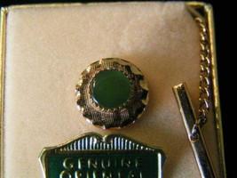 Vintage Genuine Jade Round Tie Tack #2 - $5.77