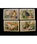 China Taiwan 1978 Butterflies  MNH - $37,64 MXN