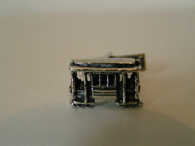 Sterling Silver Cable Car Cuff Links