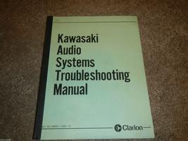 Clarion Kawasaki Audio Systems #2 Trouble Shooting Book Manual - $46.65
