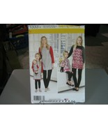 Simplicity 1333 Mom & Girl Tunic, Leggings & Doll Clothes Pattern - XS-X... - $8.90