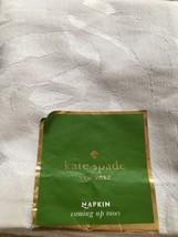 "KATE SPADE ""ALL THE TRIMMINGS"" 8PC NAPKINS CRANBERRY HOLIDAY MOTIF 20"" x... - $56.99"