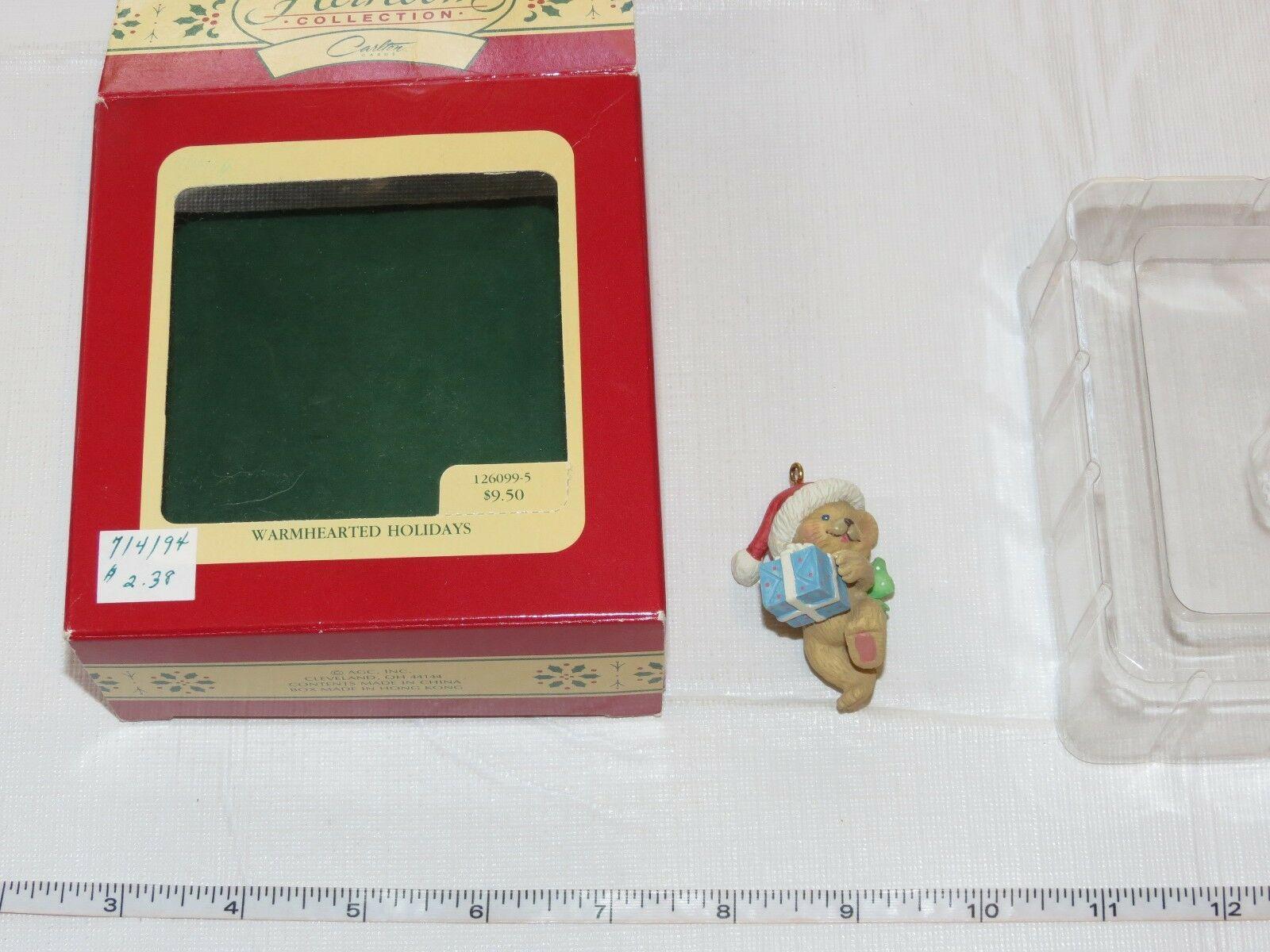 Carlton Cards Heirloom Collection Christmas Warmhearted Holidays Bear