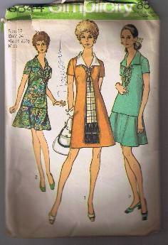 Simplicity 8844 Misses Dress or Overblouse, Skirt, Scarf - Sz 12 - Cut/Complete