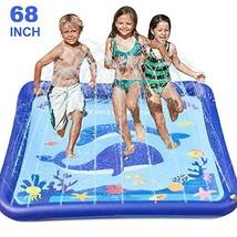 "GiftInTheBox Kids Sprinkler & Splash Play Mat 68"" Sprinkler for Kids Outdoor Wat"