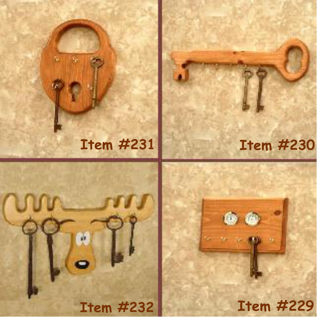 W  four key racks