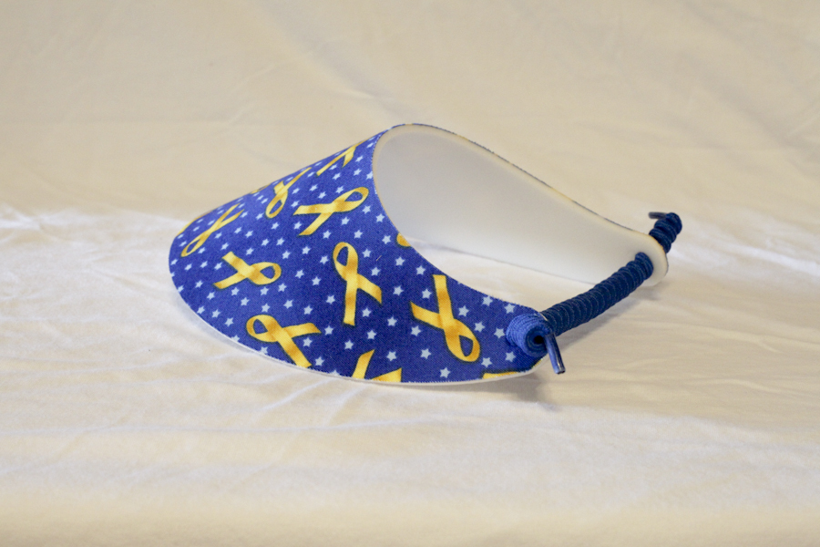 Foam Sun Visor/Sport Cap - Patriotic Yellow Ribbons