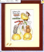 House Mouse Make Lemonade counted cross stitch ... - $10.80
