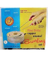 Vintage 1967 Fire Brite Copper Enamel Swirling Kit w/Kiln IOB Swirl Set # 1300 - $74.95