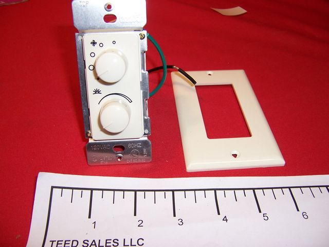 Four Speed Dual Fan and Light Dimmer Control 6482 Ivory