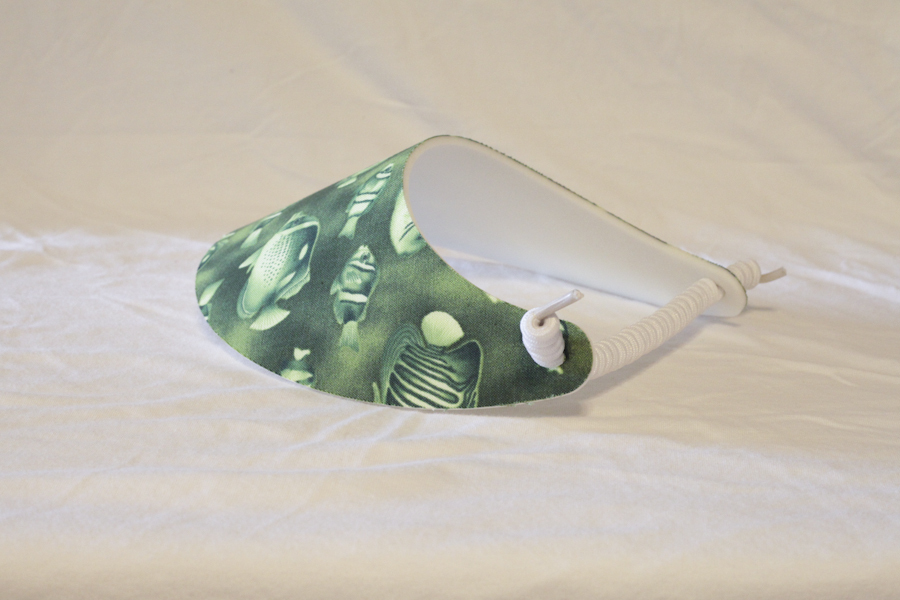 Foam Sun Visor/Sport Cap - Green Tropical Fish