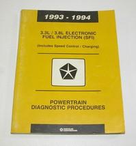1993-1994 Chrysler Dodge 3.3L / 3.8L Electronic Fuel Injection (SFI) Manual - $12.82