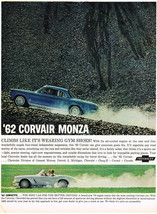 Vintage 1962 Magazine Ad for Corvair Monza Climbs Like Its Wearing Gym Shoes - $5.93