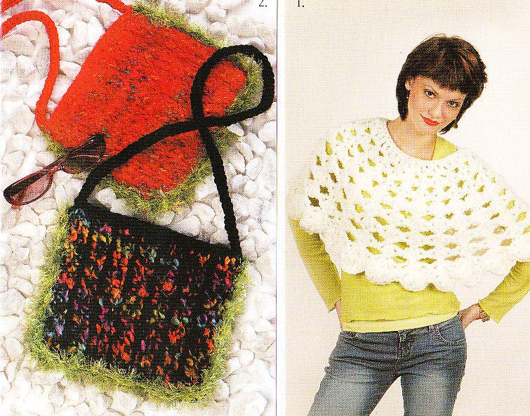 *Crochet and Knit Poncho - Purse - Jacket  Patterns