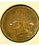 1908 INDIAN HEAD CENT - 107 YR OLD BRONZE - BTR... - $6.50