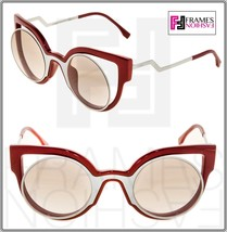 FENDI PARADEYES FF0137S White Red Mirrored Cat Eye Sunglasses Optyl 0137 - $231.66
