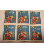 Vintage 1929 Health Greetings Lung Association Christmas Seal Stamps - $12.00